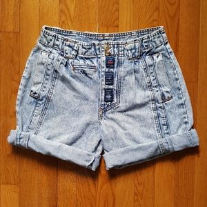 Vintage 80's High Waist Acid Bomber Jeans Shorts